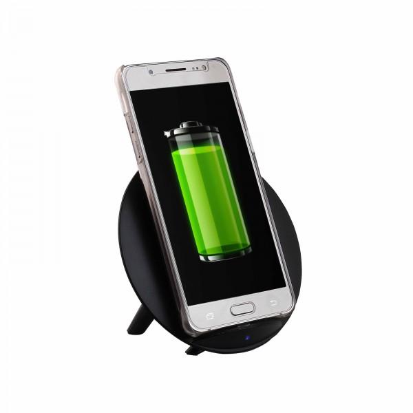 LIVOO Ladegerät kabellos Smartphone Qi-Gerät Induktion TEA184N schwarz
